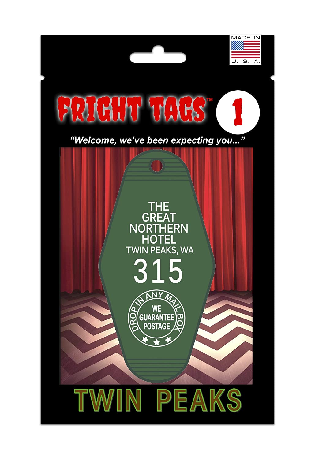 Fright Tags # 1 Key Tag - The Great Northern Hotel #315 - Twin Peaks GW and Son