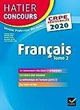 Français tome 2 - CRPE 2020 - Epreuve écrite d'admissibilité