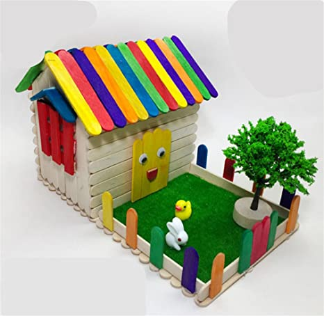 Amazon com: DIY Wooden 3D Cottage Ice Cream Bar Hut Set