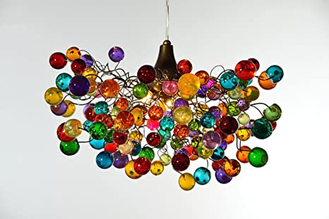 Multicolor bubble chandelier pendant lampshade ceiling light multicolor bubble chandelier pendant lampshade ceiling light fixtures kids lighting mozeypictures Images