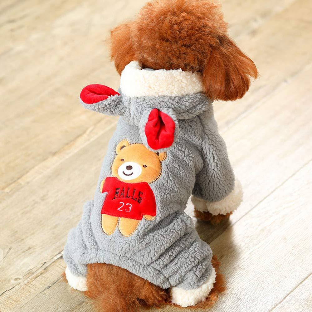 M BUST 40--44CM 1 PCS Small Dog Clothes Autumn Clothes cat Clothes pet Clothes Bear Big Change Dress AP9251657 (Size   M Bust 40-44CM)
