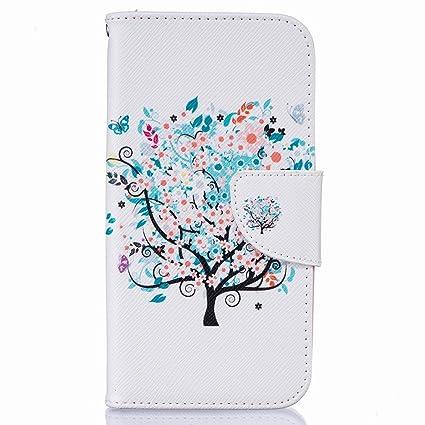 Amazon.com: Bairry LG K5 / X220 Case, Blue Tree Flip Wallet ...