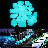 Jardín luminoso brillante piedra Pebble 200pcs Glow Pebbles en la oscuridad piedras para pasarelas de al