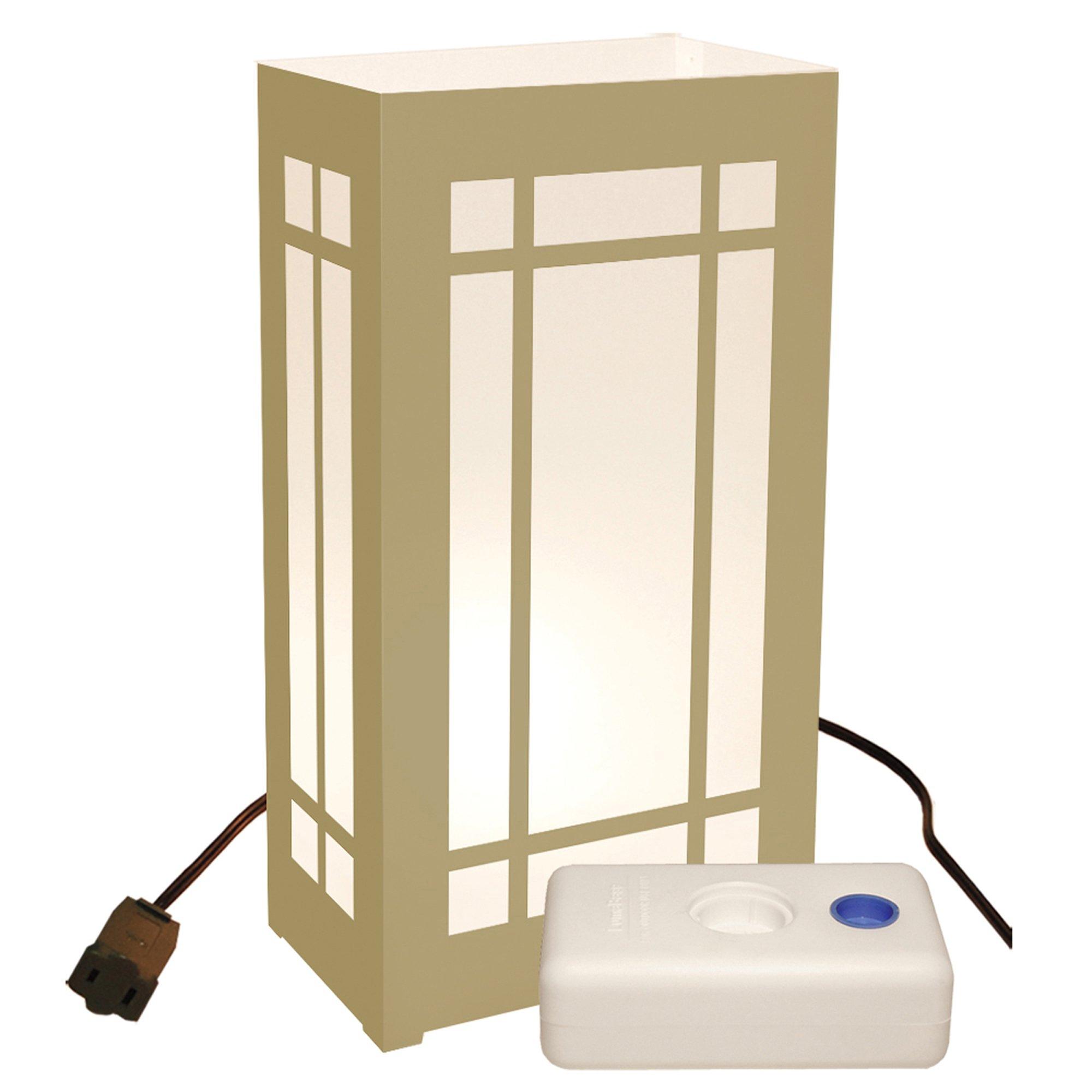 LumaBase 61610 10 Count Gold Lantern Electric Luminaria Kit with LumaBases