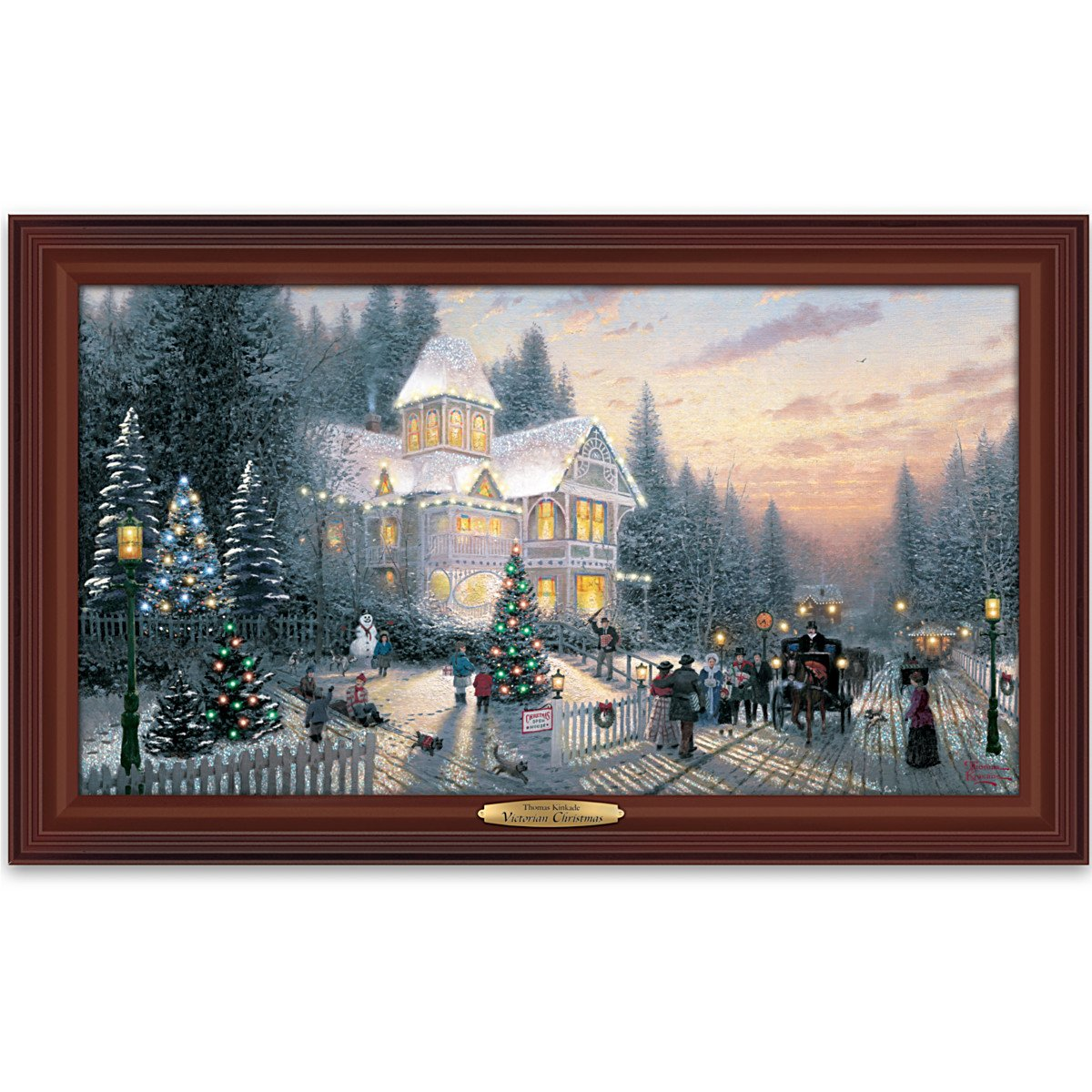 Amazon.com: Wall Decor: Thomas Kinkade Victorian Christmas Wall ...