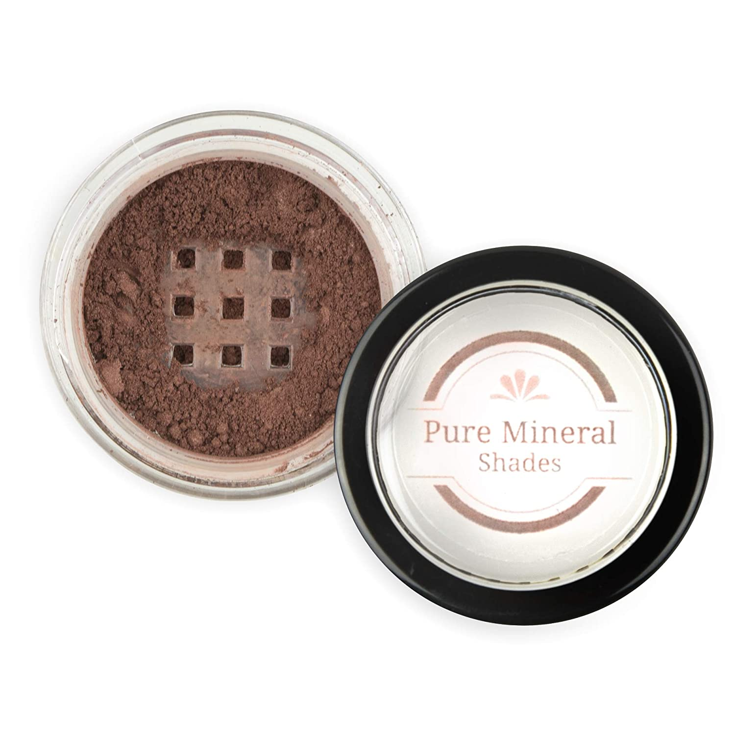 Mineral Eyebrow Powder by NuBeauti - Natural Brow Makeup Kit with Angled Contour Brush for Precision Sculpting to Color Eyebrows Precisely for Beautiful Perfect Professional Brows - (Dark Auburn)
