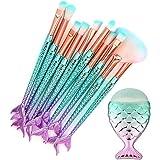 Datework 11PCS Make Up Foundation Eyebrow Eyeliner Blush Cosmetic Concealer Brushes
