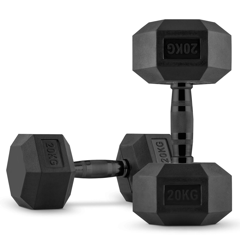 Capital Sports Hexbell • Kurzhantel-Set • 5 kg - 40 kg • schwarz