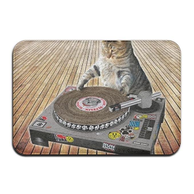 DJ Cat Scratch Tocadiscos al aire libre Baño Mats 2416 (puerta Mat ...