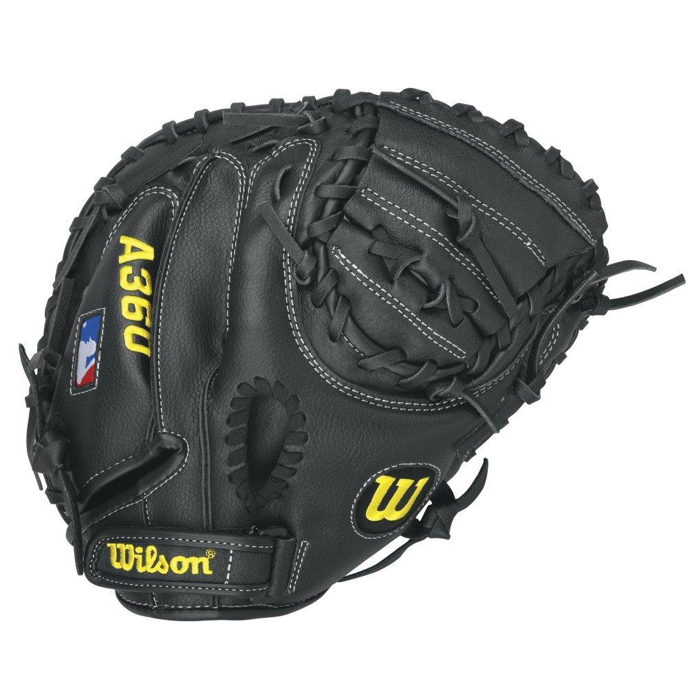 Wilson A360 Catcher's Mitt - Right Hand Throw,Grey/Black/White,31.5-Inch by Wilson