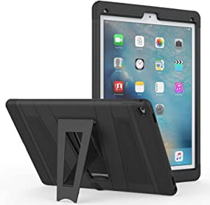 Apple iPad Pro 12.9 Rugged Case with Built-In Clear Screen Protector & Stand