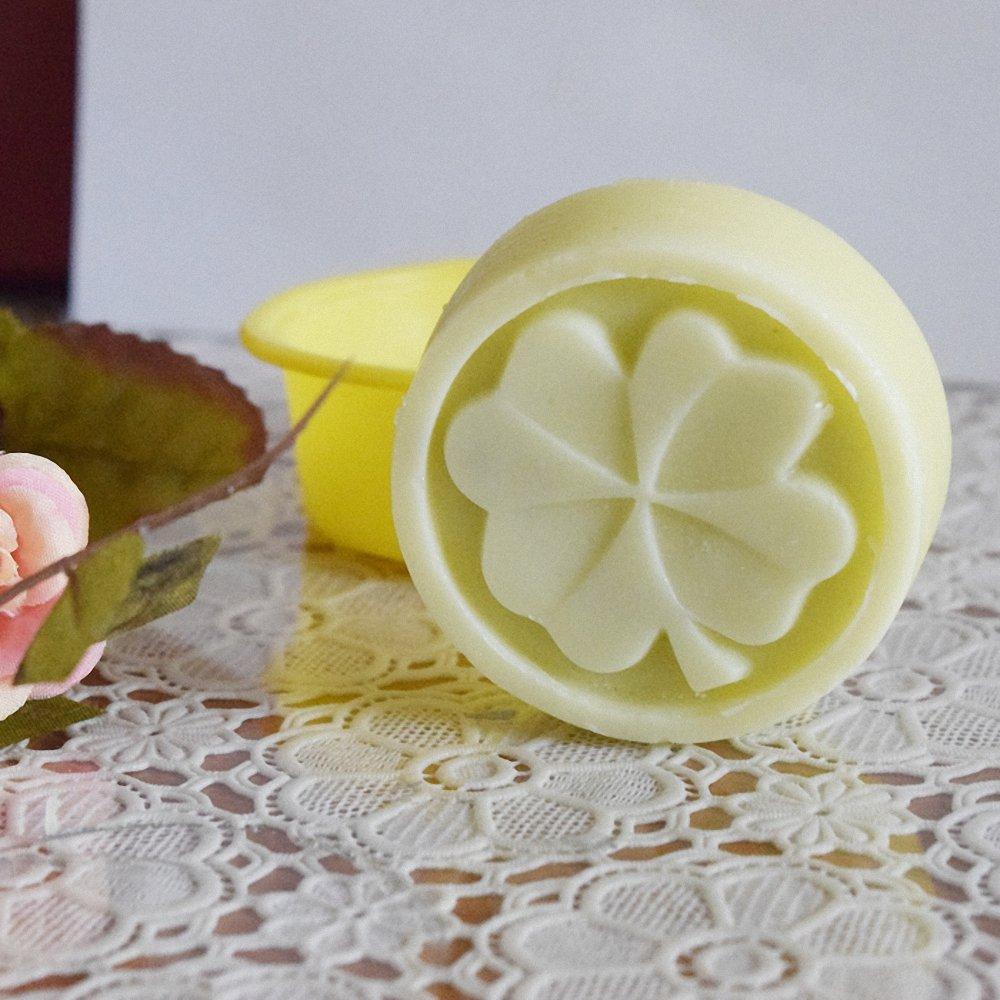 229e1a33ff3b Amazon.com  4Pcs Four-Leaf Clover Soap Molds - MoldFun Silicone Mold ...
