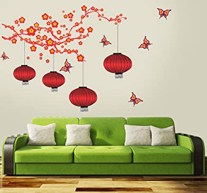 Buy New Way Decals Wall Sticker For Living Room Italian Red Lamp
