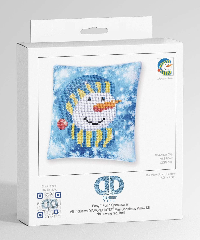 Malen mit Diamanten Kissenbezug mit Diamantbild zum Selbstgestalten Diamond Dotz Kissen Rentier Pracht Creatives Hobby DDP2-028 ideal auch als Geschenk 18 x 18 cm gro/ß ca