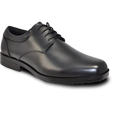 bdf3f745197 VANGELO Professional Slip Resistant Men Work Shoe Newport Black-Wide Width  Available-Order One Size up