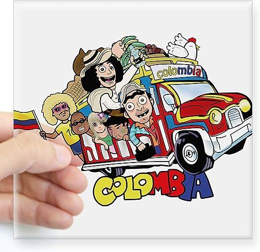 Colombia 9 stickers set Colombian flag decals bumper stiker car auto bike laptop