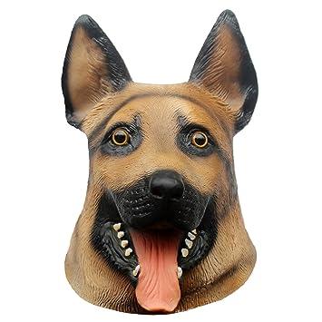 Queenshiny® máscara de látex animales (perro lobo)