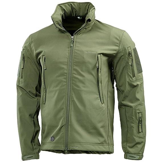 aa44ce81b0e95b Pentagon Artaxes Men s Softshell Jacket Olive Green  Amazon.co.uk ...