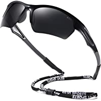 Bevi Polarized Sports Sunglasses UV Protection with Durable and Flexible Frame for Driving Cycling Running