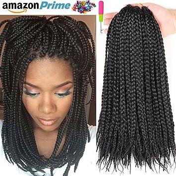 Amazon 40 Packs 40 Box Braids Crochet Braids 40g 40 Strands Adorable Braid Pattern For Crochet Box Braids