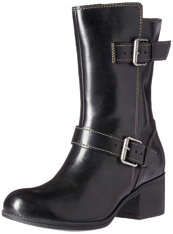 CLARKS Women's Maypearl Oasis Engineer Boot B01N6J6GU5 6 B(M) US|Black