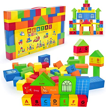 Colorful Foam Blocks Children Soft /& Safe Toys Non-Toxic Kids Blocks F