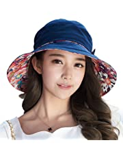 SIGGI Womens UPF50+ Summer Sunhat Bucket Packable Wide Brim Hats w/Chin Cord