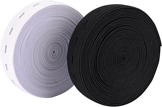 Xurong - Cinta elástica para coser con ojales: Amazon.es: Hogar