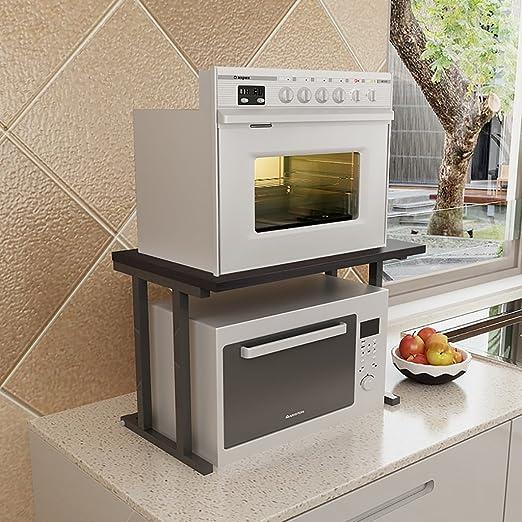 Estantería de cocina para microondas, estante de almacenamiento de ...