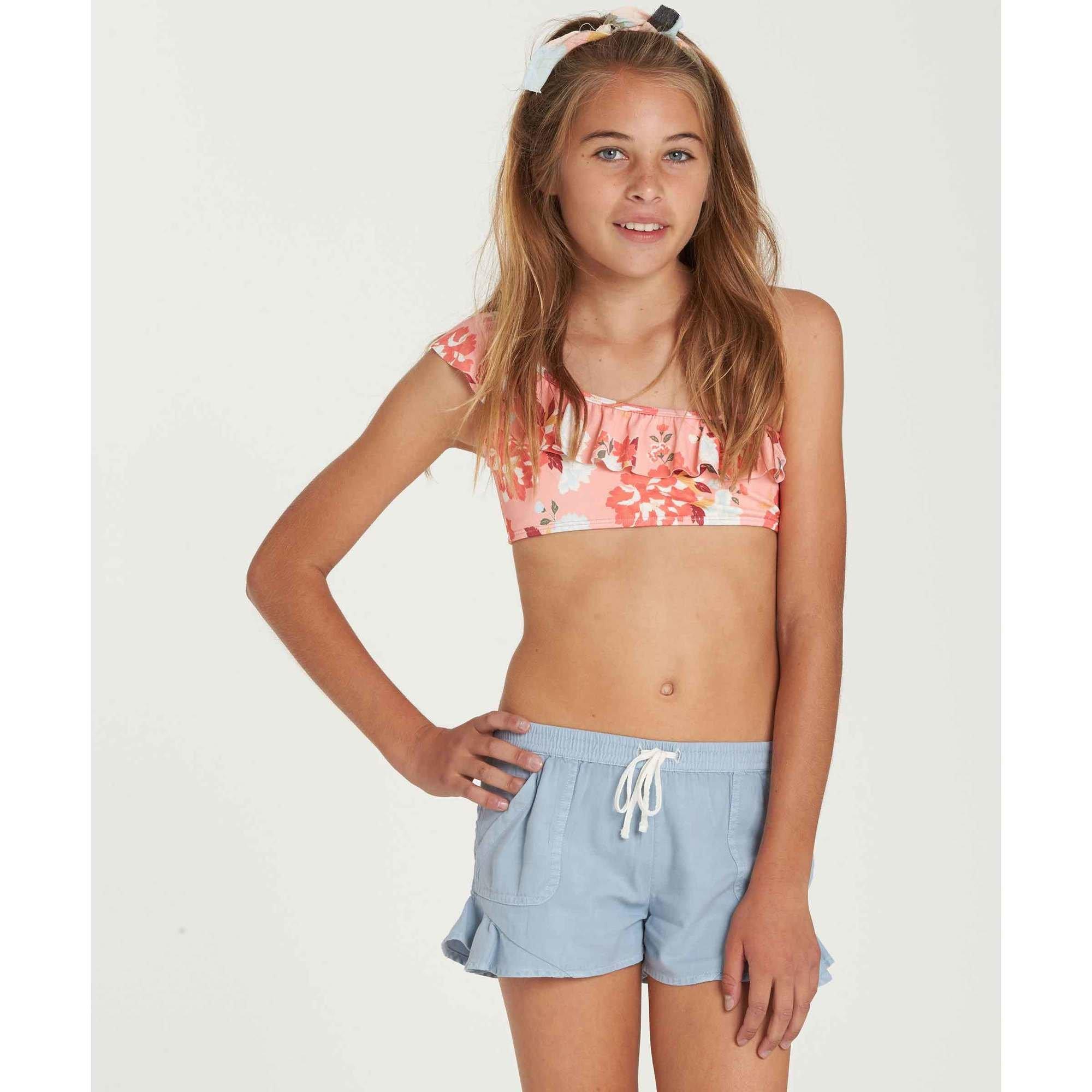 Billabong Big Girls' Mad for Summer Short, Chambray, L