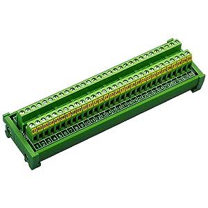 Electronics-Salon DIN Rail Mount 30 Position 24A / 400V Screw Terminal Block Distribution Module.