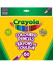 Crayola 60 Coloured Pencils, Adult Colouring Pencil Crayons, Bullet Journaling, School and Craft Supplies, Drawing Gift for Boys and Girls, Kids, Teens Ages 5, 6,7, 8 and Up, Holiday Gifting, Stocking , Arts and Crafts,  Gifting