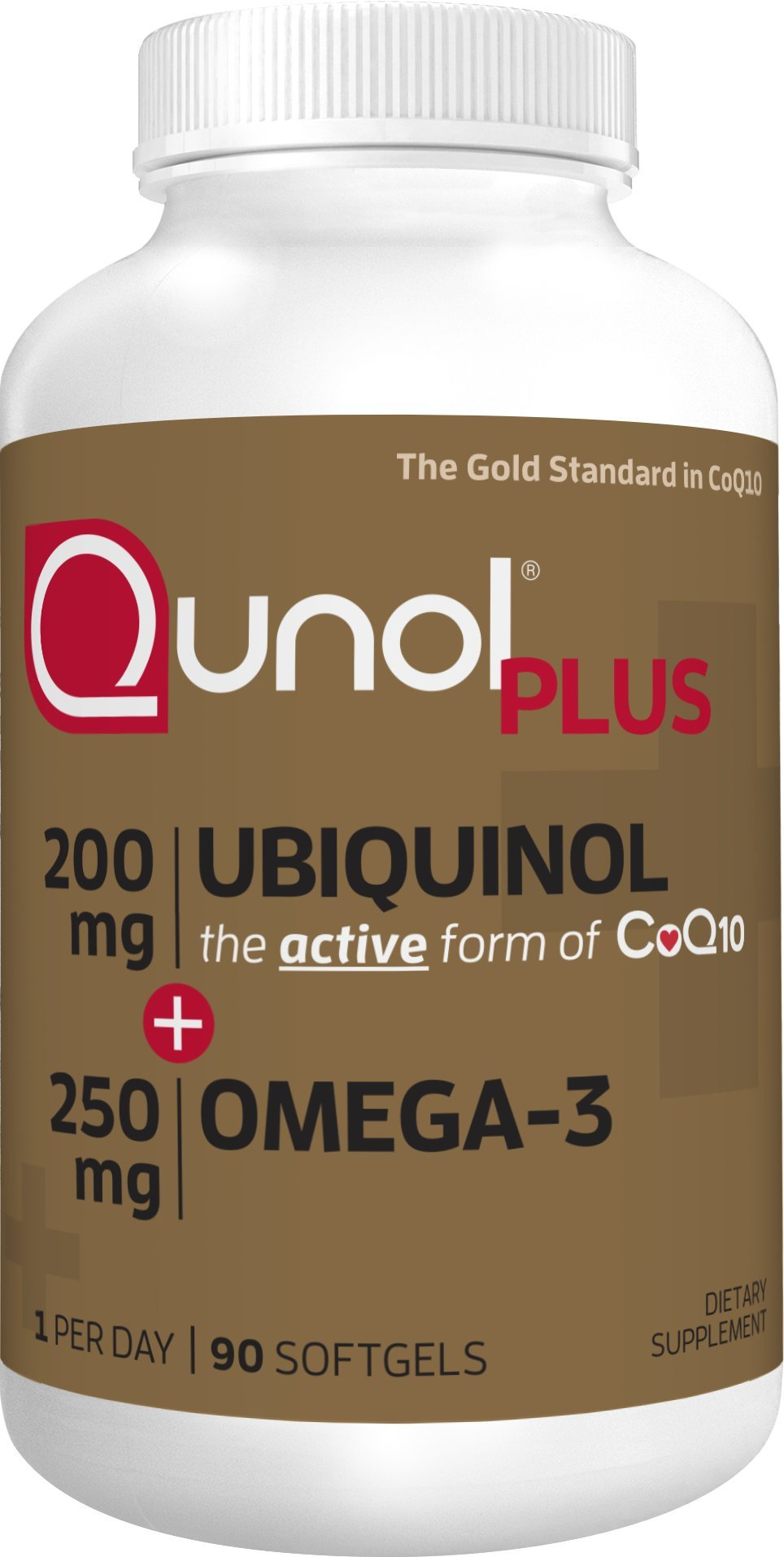Qunol Ubiquinol + Omega 3 Plus CoQ10 200mg, Extra Strength Ubiquinol Plus DHA and EPA for Heart and Vascular Health, Natural Supplement Active Form of CoQ10, Powerful Antioxidant, 90 Count