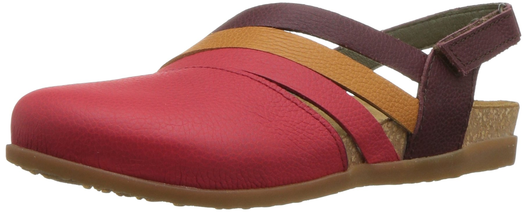El Naturalista Women's NF45 Soft Grain Zumaia Flat Sandal, Grosella Mixed, 37 Medium EU (7 US)