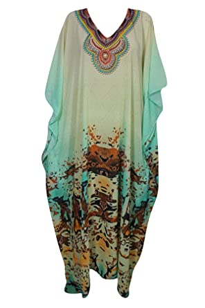566dbd792d5 Image Unavailable. Image not available for. Color  Womens Green Caftan  Dresses ...