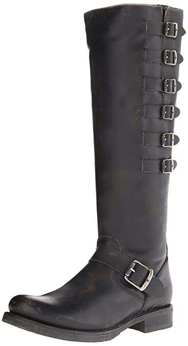 FRYE Women's Veronica Belted Tall-Sto Engineer Boot, Black, ...