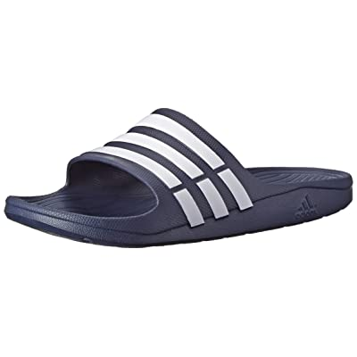adidas Duramo Slide Sandal,Dark Blue/White/Dkblue,11 M US: Shoes