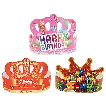 TOYANDONA Doce Sombreros de cumpleaños,una Carta de ...