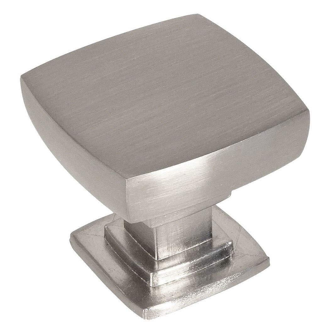 10 Pack - Cosmas 5232SN Satin Nickel Contemporary Square Cabinet Knob