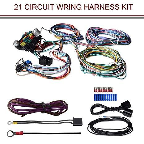 TERRAIN VISION 21 Kit de arnés de cableado de circuito universal para barras de calle,