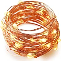 BZONE Fairy Strip Light Battery Operated 7 Foot 20 Leds,Copper Wire Lights, Warm While,Work for Party , Wedding Centerpiece,Table Decorations (Not Included 3AA Batteries)