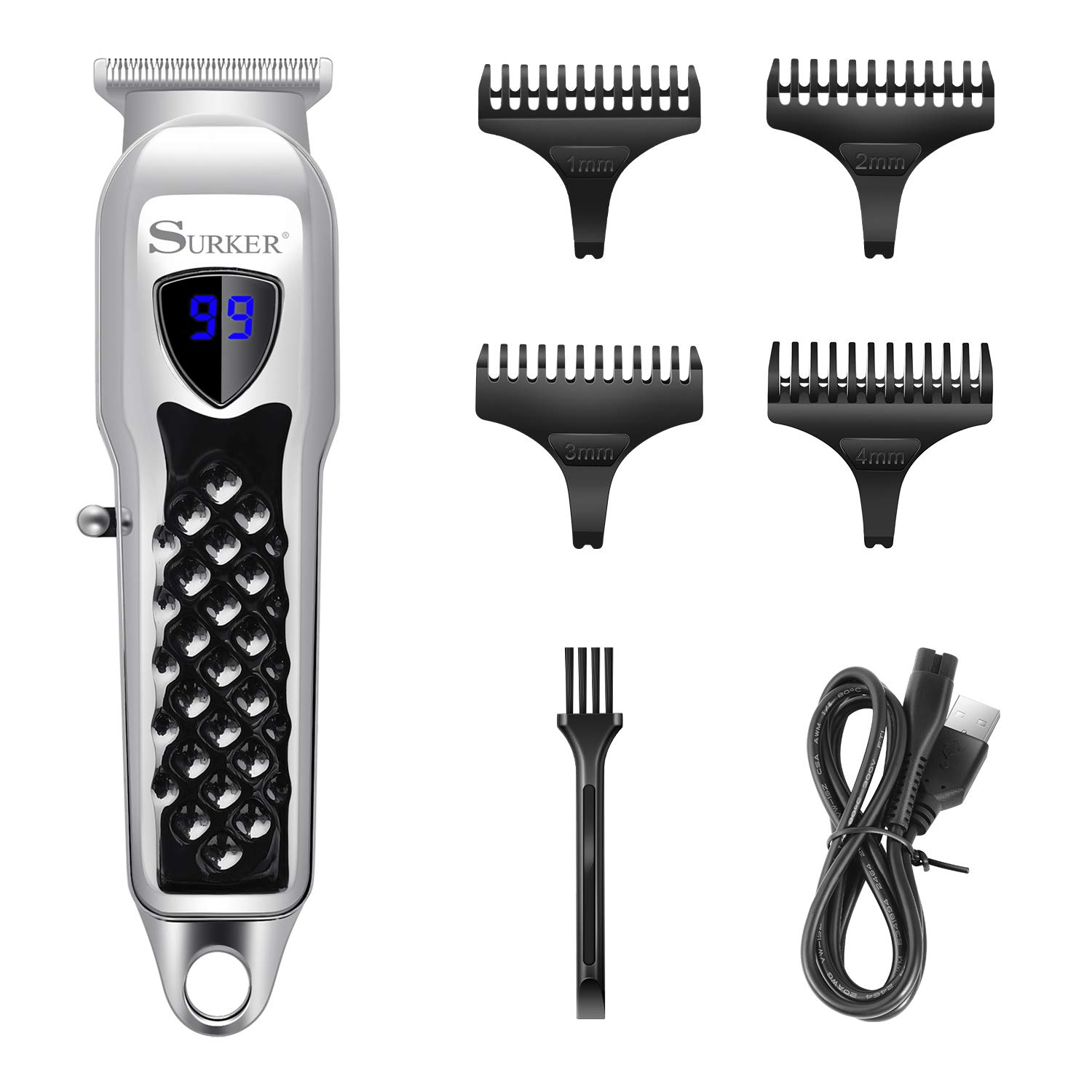 Surker Hair Trimmer Beard Trimmer Hair clippers for Men Pro Cordless T-Blade Precision Trimmer For Hair Carving Shaver Rechargeable