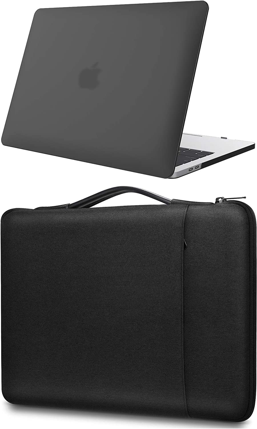 ProCase MacBook Pro 13 Inch Hard Shell Case + Sleeve Bag, Compatible with 2020 2019 2018 2017 2016 Release MacBook Pro 13-inch A2289 A2251 A2159 A1989 A1706 A1708 -Black