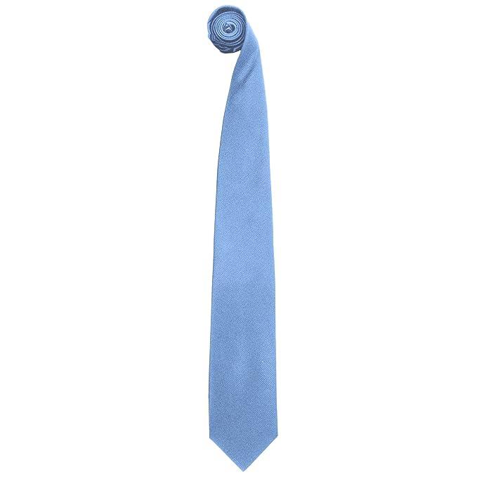 Premier - Corbata lisa de seda pura Modelo Premium Hombre ...
