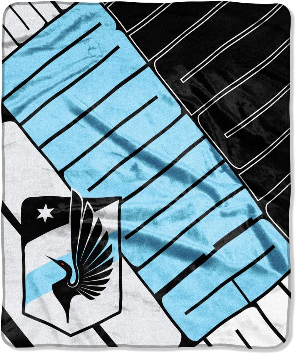 MLS Minnesota United FC Scramble Plush Raschel Throw Blanket Blanket 50 x 60
