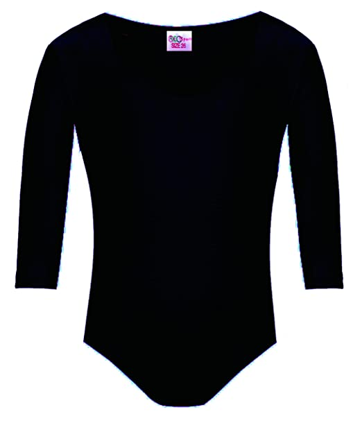 77adf994cae8bf Girls Leotard Stretch Dance Gymnastics Ballet Sports Sleeved Top Pink Navy Black  Purple White Royal Blue White  Amazon.co.uk  Clothing