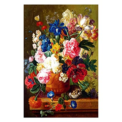 Oil Painting | Flower Jigsaw Puzzle| 1000 Pieces Jigsaw Puzzle for Adults Teens | Small Size Puzzles | 750×500mm Jigsaw Puzzle Toy | Home Decor |DIY Art Craft | Manuali Abilities Exercise: Toys & Games