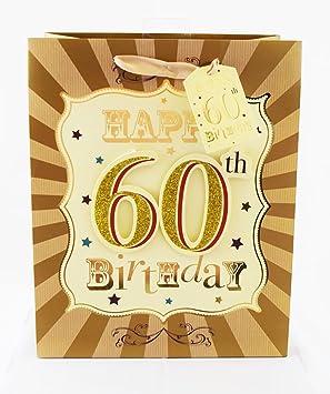 Happy 60th cumpleaños Bolsa de regalo bolsa de 60 años de ...
