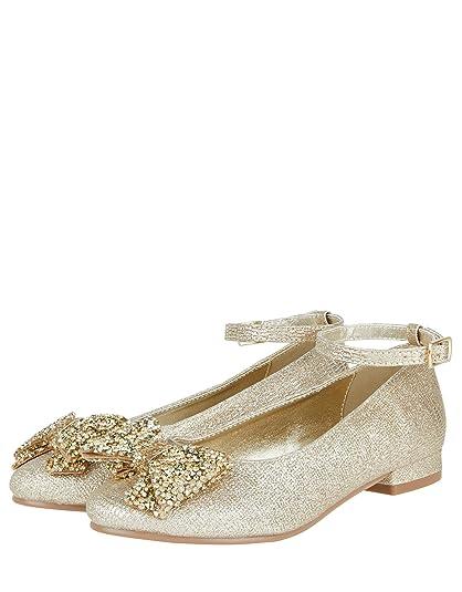 Accessorize - Alpargatas para niña, Color Dorado, Talla Schuhe 28: Amazon.es: Zapatos y complementos