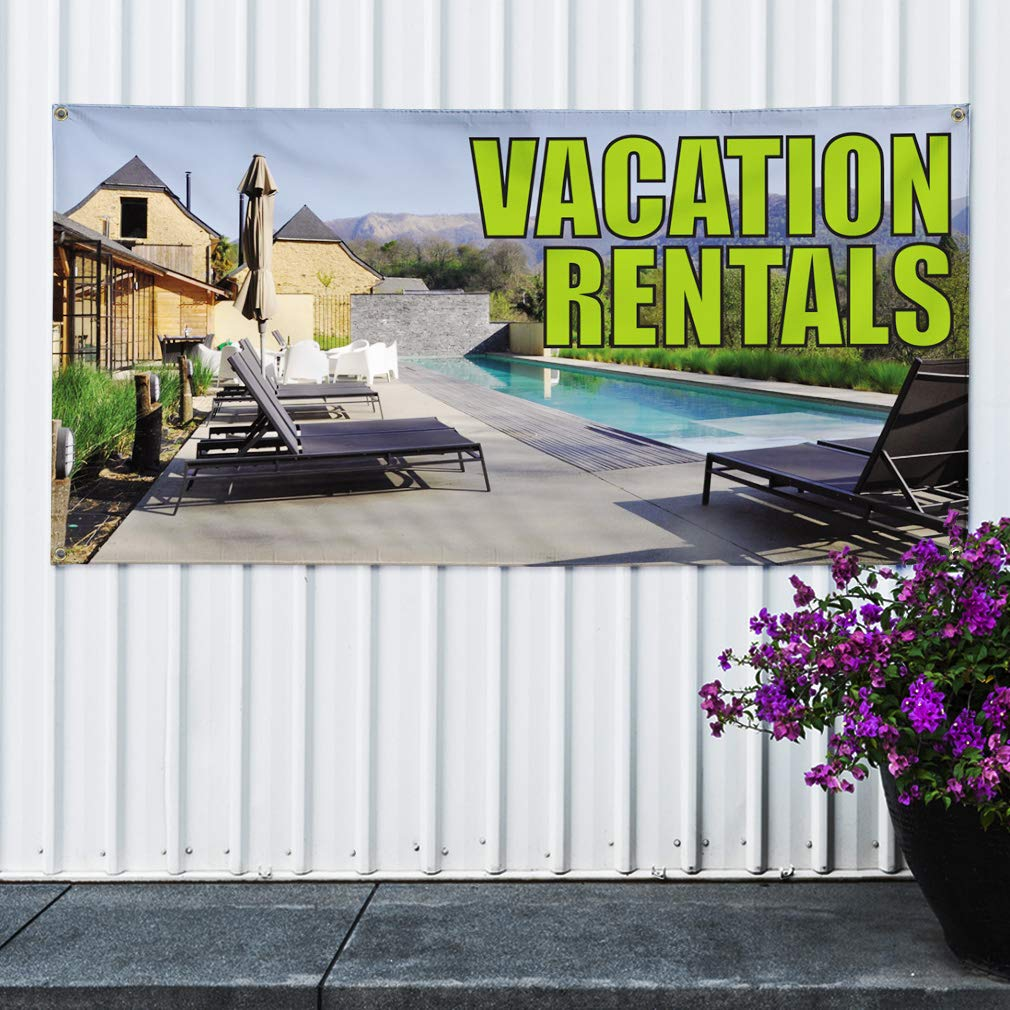 Custom Vinyl Banner Sign Multiple Sizes for Rent Phone Number Green Business for Rent Outdoor Green 10 Grommets 60inx144in One Banner